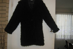 coat black with two buttons