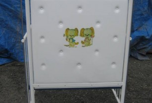 COT WHITE STEEL FRAME